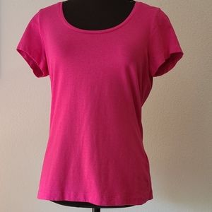 Lands End Pink Tee Size Small